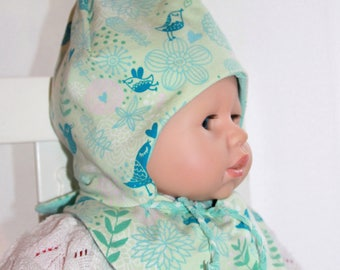 Baby with matching jersey scarf KU 40-25inch in the tender green