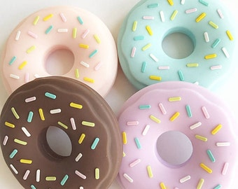 Donut Silicone Teether Baby Teething Toy Silicone Pendant DIY Necklace