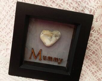 Heart Pebble frame - Mummy