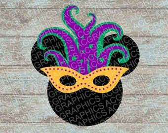 Mardi Gras Mickey Mouse SVG, DXF, JPEG, and Studio Downloads