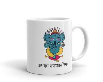 Ganesh with Sanskrit Mantra Coffee Mug