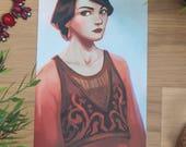 Downton Abbey print, Mary...