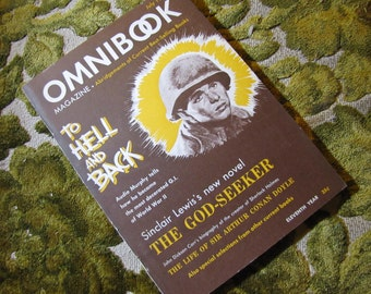 Vintage Omnibook Magazine July 1949 Issue - Best Selling Book Abridgements To Hell and Back, Sinclair Lewis, Arthur Conan Doyle, and More!
