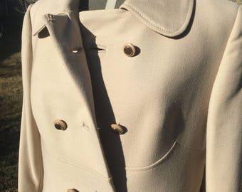 70s beige vintage coat
