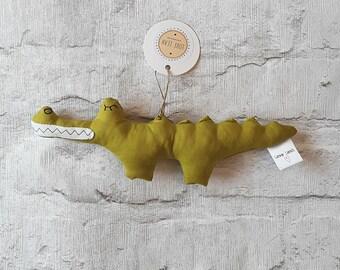 Crocodile rattle, crocodile soft toy, crocodile, rattle, soft toy