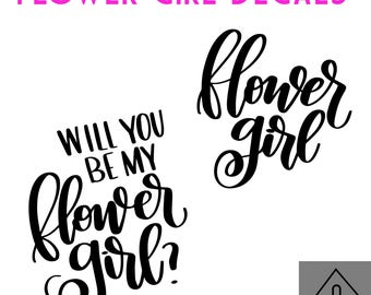 FLOWER GIRL DECAL bundle -Wedding party bundle decal - Future Mrs - Mr and Mrs Decal - Wedding Decal - Wedding Party decal - bridesmaid