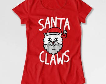Funny Christmas T Shirt Xmas Gifts For Cat Lovers Holiday Present Christmas Gift ideas Animal Lover Cat Clothing Holiday Outfit TEP-523