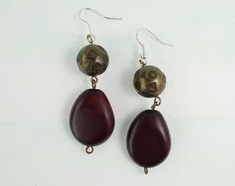 Vintage Ethnic Boho Earrings, Bohemian Earrings Jewellery, Hippie Style Earrings, Long Drop Hook Earrings, Mother's Day, Gift for her