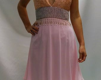Dress sequins and chiffon rose