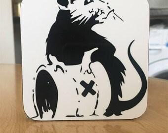 Banksy Coaster #17 - Banksy Gift - Banksy Coaster - Custom Coaster -Gift for Her - Gift For Him - Fridge Magnets - Banksy Magnet - Souvenir