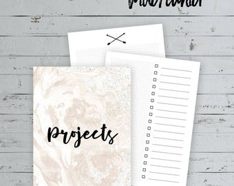 WIDE/CAHIER >>  Project Planning/Productivity Inserts  >>  Customize Your Cover  >>  Traveler's Notebook Insert >> \ Wide/Cahier Inserts