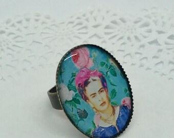 Frida Kahlo Azul ring