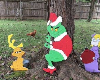 PATTERN*****Grinch stealing Christmas lights