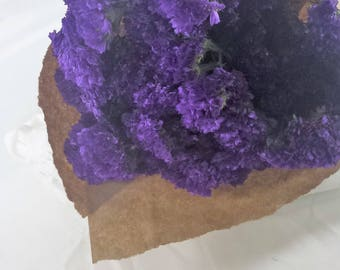 Purple statice, dried bulk  7-10 stems, branches, toss flowers,  DIY Floral, DIY Weddings, DIY Bouquets, wedding bouquets, wreaths