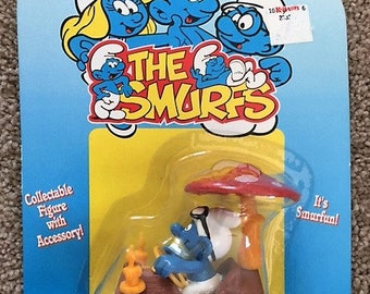 1996 Smurf Collectible Figure with Accessory #40300