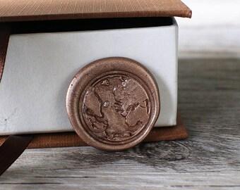 The Earth wax seal stamp kit, geometrical wax seal, wedding envelope seal,party wax seal stamp set
