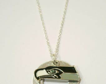 Seahawks Metal Stamped Necklace