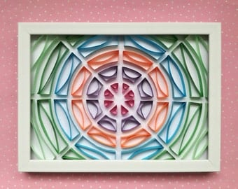 "Quilling Wall Art ""Geometric Circles"" - Handmade Wall Decoration"