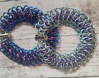 Frozen inspired chainmaille bracelet - Crotalus