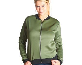 Kate MA1 Bomber Jacket - Khaki