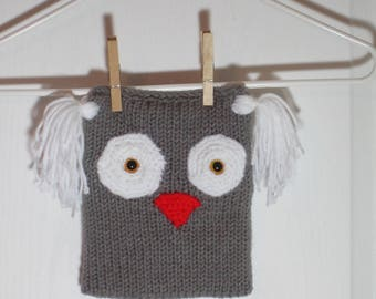 """Baby/Toddler Beanie Hat Featuring """"Oakley"""" the Owl"""