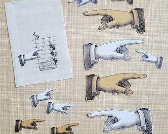 Hand stickerset, 12 pcs
