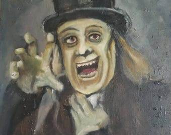 London After Midnight - Oil Portrait on Canvas