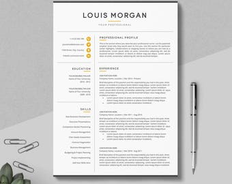 resume template etsy - Resume Template For Pages