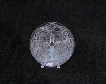"""R. Lalique France """"Coquilles"""" 11 1/2"""" charger circa 1924 signed rare & fabulous!!"""