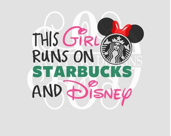 DIGITAL DOWNLOAD starbucks svg - coffee svg - disney svg - coffee logo svg - mickey ears svg - disney shirt svg - silhouette - cut files