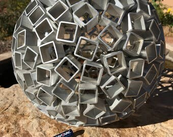 Aluminum Metal Sphere Sculpture