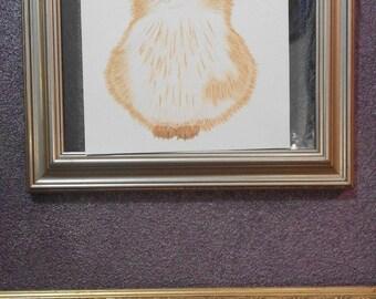 Nursery Print With Orange Kitten