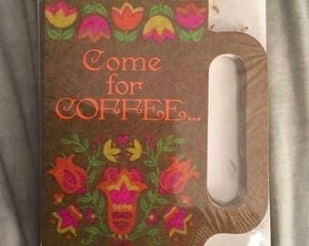 Vintage Hallmark Invitations - Come For Coffee...