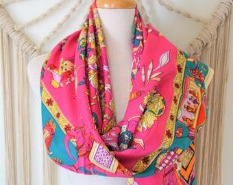 Wearable Art - Silk Square Scarf, Silk Shawl, Silk Wrap, Equestrian  Print Scarf, Women's Silk Scarves, Fashion Scarves, Womens Fashion