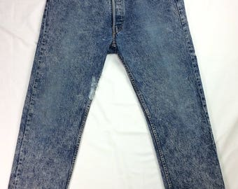 "Vintage Levi's 501's Naturally Distressed Acid Washed 30X28 | 30"" Waist 