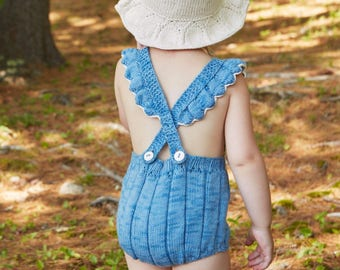 Kuzzy Design Knit Denim Romprs,Nwborn/3/6/9/12/18/24 month Baby Rompers,Knit Rompers,Baby Knitted Rompers