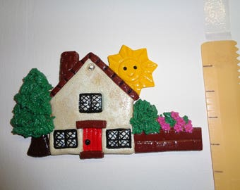 Decorative Salt dough Country Cottage and Garden
