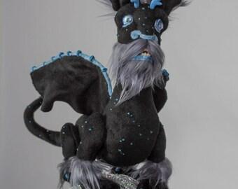 Teddy stuffed winged dragon