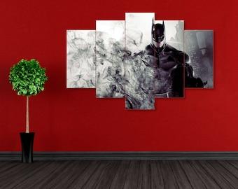 Batman wall art, DC Comics wall art, Dark Knight, Batman print, Dark Knight print, Batman canvas, Bruce Wayne canvas, DC Comics, Batman