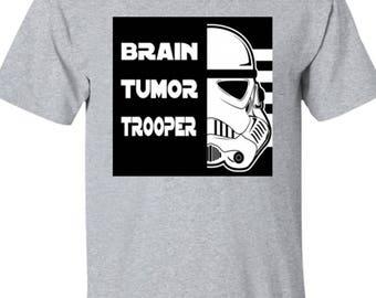 Brain Tumor Trooper Kids Cotton T-Shirt Custom Made Exclusive Design, Brain Tumour, Star Wars, Childrens