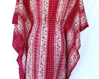 VINTAGE BOHEMIAN CAFTAN 70's batik