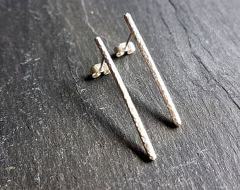 Rush silver stud earrings