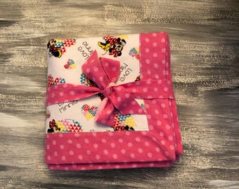 Minnie Mouse flannel baby blanket