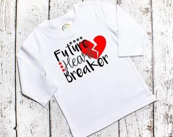Toddler Boys Valentine Shirt - Valentine Shirt Boy - Future Heart Breaker - Boys Valentine's Day Shirts - Vinyl Shirts - Valentines Shirt