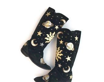 Vintage Zalo cosmic western boots