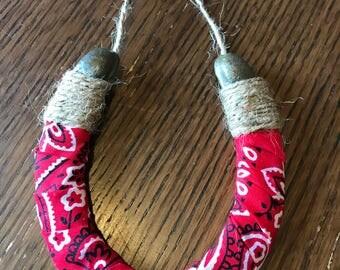 Red bandanna horseshoe