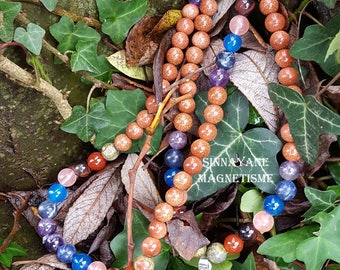 Sautoir Reiki Perles semi-précieuses