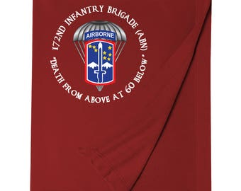 172nd Infantry Brigade (Airborne) Embroidered Blanket-7138