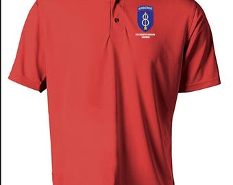 8th Infantry Division (Airborne) Embroidered Moisture Wick Polo Shirt -4067