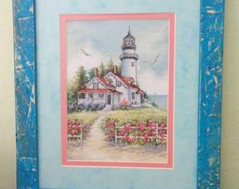 """Cross stitch tapestry """"Light house"""""""